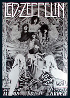 Led Zeppelin Madison Sq Garden Repro Tour Poster