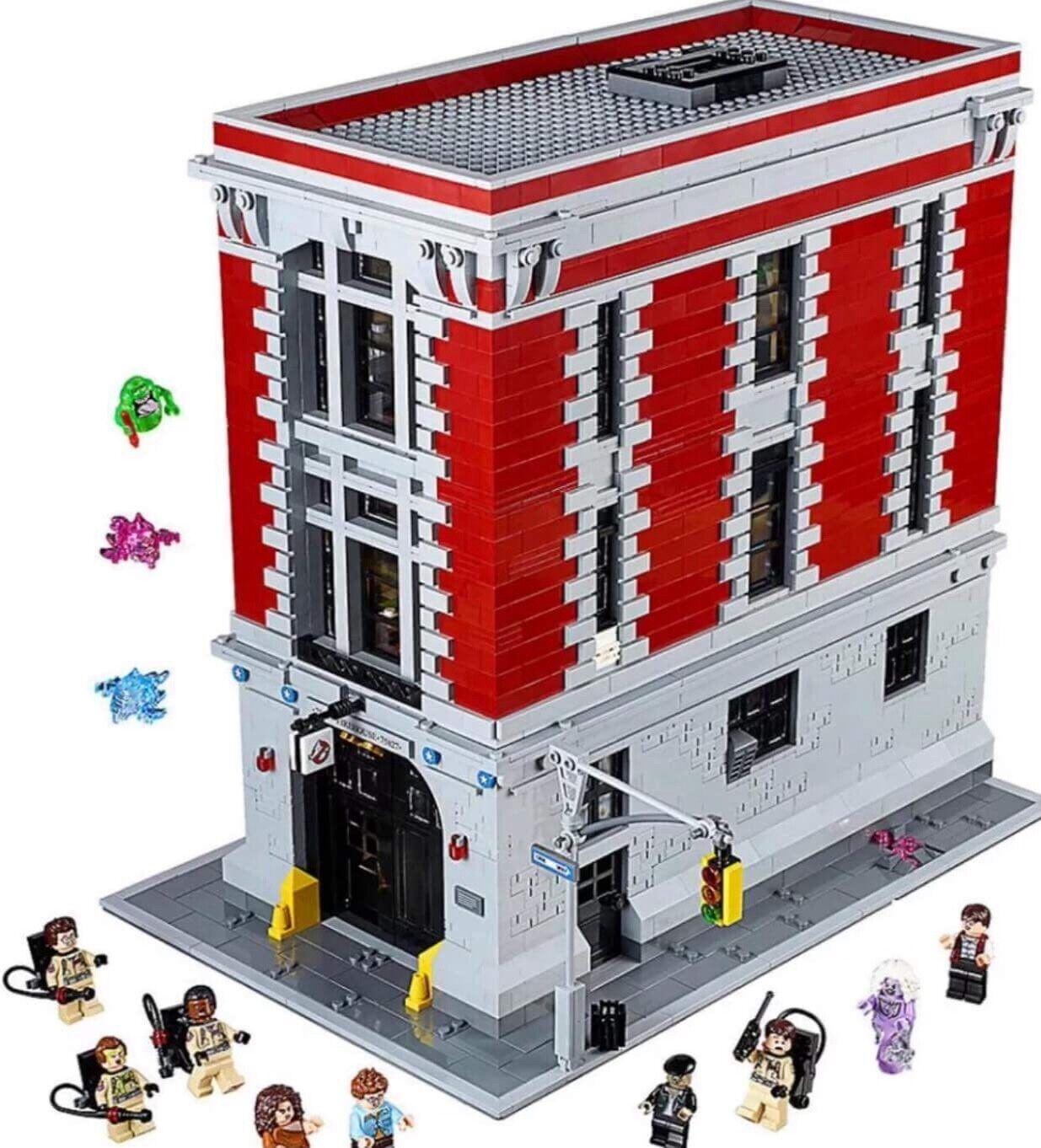 Nuevo Ghostbusters Firehouse sede 75827 + Instrucciones + Sin Caja Orig.