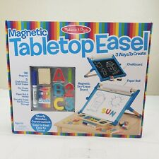 Magnetic Tabletop EaselMelissa /& Doug Double Sided Dry Erase Chalkboard Art
