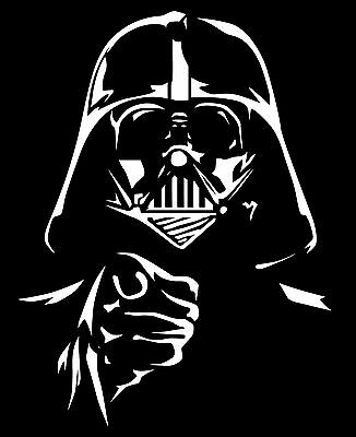 High Detail Star Wars Darth Vader Airbrush Stencil Free UK Postage