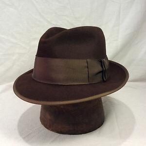 db8790e08 Details about Chocolate Brown Emerson Fedora Men's Hat with Light Chocolate  Brown Band
