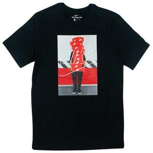 Nike-NSW-Stacked-Box-Logo-Tee-Mens-T-Shirt-Black-Size-S-Sportswear-Top