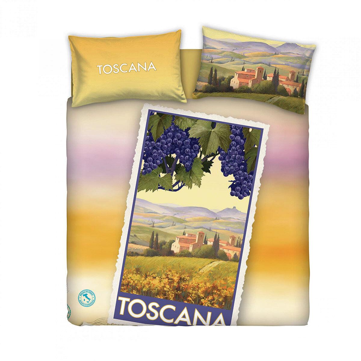 Completo copripiumino Toscana di Bassetti Souvenir Matrimoniale R058
