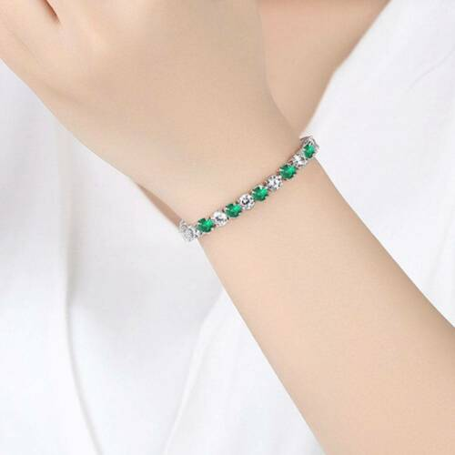 Women Elegant  Bracelets Beautiful White Green Crystal Gifts Wedding Bracelets