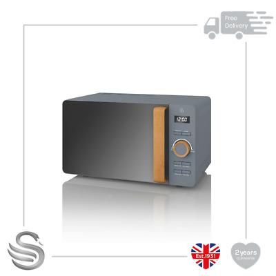 Swan 20L Nordic Digital Microwave Grey- SM22036GRYN- Brand New
