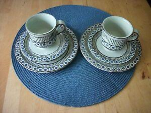 2-Waku-Keramik-Gedecke-Tasse-Teller-Art-Deko