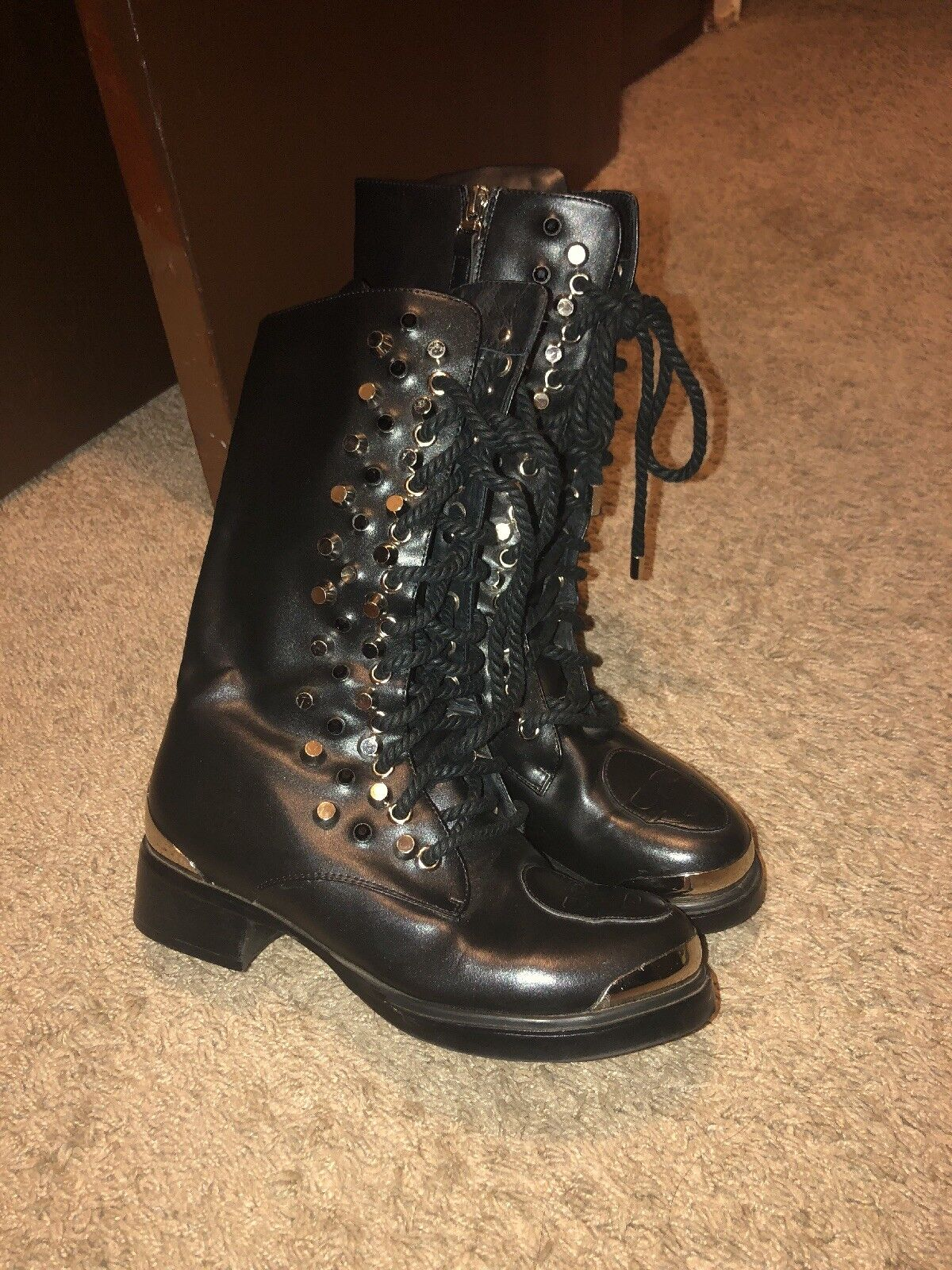 Alexander McQueen Lace Up Ankle Boots size 36 FREE SHIPPING