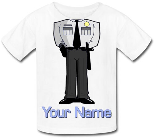 GIFT /& NAMED TOO POLICE BODY PERSONALISED BABY T-SHIRT GREAT KIDS DRESS UP