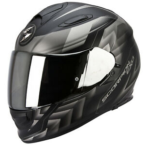 Scorpion-Exo-510-Air-Scale-Casque-de-Moto-Integral-Touring-Noir-Mat-Argent
