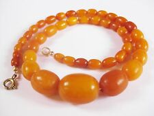 Antike Bernsteinkette, Real Natural Amber, Butterscotch Necklace 18,22 g