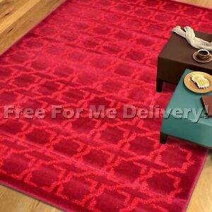 VUE-STAR-GEOMETRIC-MOSAIC-RED-MODERN-FLOOR-RUG-L-200x290cm-FREE-DELIVERY