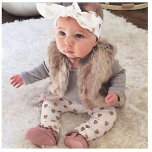 Outfits & Sets 3pcs Newborn Infant Baby Girls Clothes T-shirt Tops+pants Leggings+headband Outf Regular Tea Drinking Improves Your Health