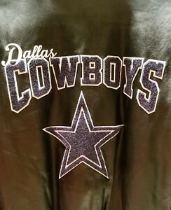 66974cbf2 Dallas Cowboys Team PU Varsity Jacket By G-III - Black Christmas ...