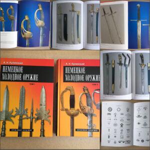 German-edged-weapons-set-of-2-books-Germany-swords-sabers-daggers-rus