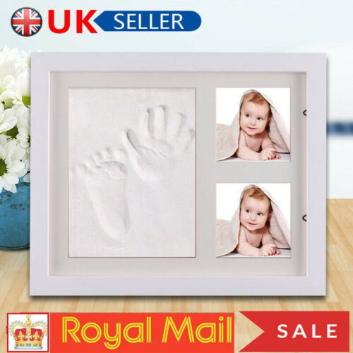 GIFT!Newborn Baby Hand Print Kit Boys Girls Picture Frame Keepsakes for Registry
