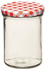 KitchenCraft New 440ml /16oz Glass Preserve Jam Jar & Screw Top Lid