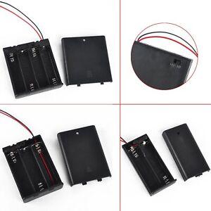 Boitier-Bloc-Support-Coupleur-pr-2X-3X-4X-AA-Batteries-Pile-Couvercle-titulaire