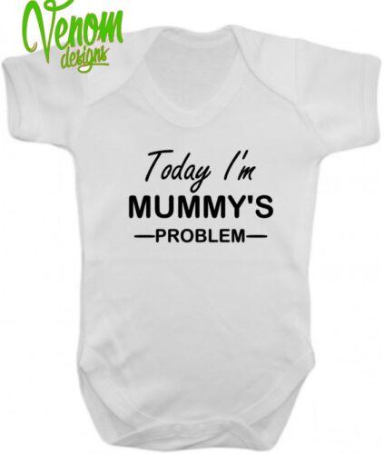 Aujourd/'hui je suis papa problème funny baby grow vest cadeau noël maman personnalisé