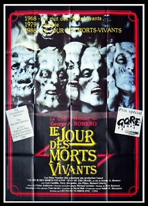 DAY OF THE DEAD - George A. Romero - Original French Movie Poster 47x63 in.
