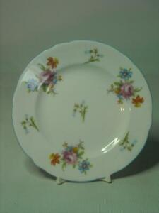 Shelley-FLORAL-ROSE-amp-BLUEBELL-5-034-12-75cm-Side-Bread-Plate