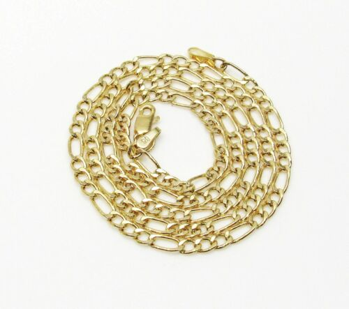 10K Gold Figaro Chain 16 Inches 2.5MM 1.6 Grams