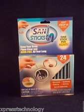 Sani Sticks 24 Pack , Keeps Drains And Pipes Clear And Odor Free As Seen On TV