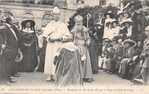 CPA-71-MILLENAIRE-DE-CLUNY-RECEPTION-DE-LOUIS-LOUIS-IX