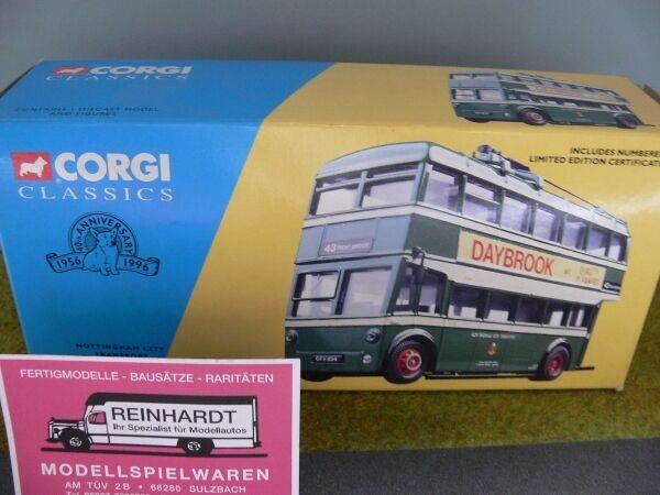 1 50 CORGI Nottingham City Transport daybrook karrier w trolleybus Set 34701