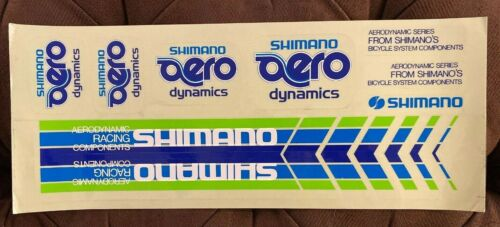 Vintage NOS Shimano Aero Bike Road Bicycle Dynamics Decal Sticker Sheet Cycling
