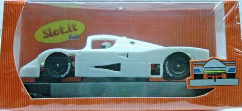 SLOT IT SICA06Z ALL WHITE MERDEDES SAUBER C9 NEW 1/32 SLOT CAR KIT IN DISPLAY