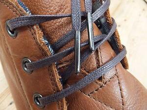 Métal En Ciré Robe Marron Chaussures Lacets Bout Plat Brogues 4mm Coton 6H0xfH8q