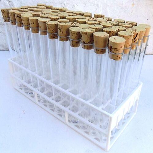 20 ml tubes à essai avec bouchons et plateau NEUF mariage faveurs Shot boissons etc.