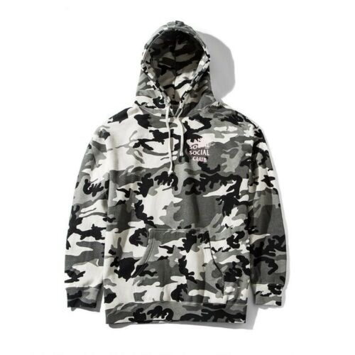 100/% Authentic Anti Social Social Club Snow Camo Hoodie Sizes Available