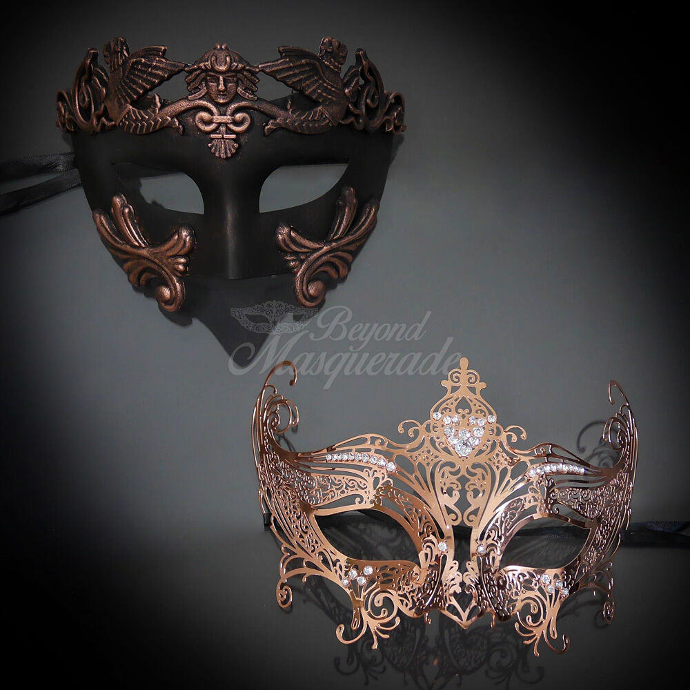 His And Hers Feminine And Masculine Bedrooms That Make A: Couples Masquerade Mask, His & Hers Set, Rose Gold