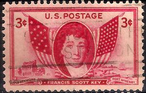 USA. 1948. 3 Cents. Francis Scott Key (Used)