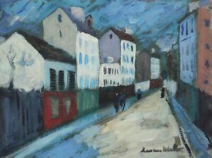 Fine French modernist Parisian landscape painting, signed Maurice Utrillo w COA