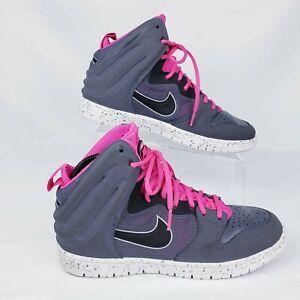 ffa6352a234d Nike Dunk Free Dark Grey Pink Flash Basketball 599466-002 Shoes ...