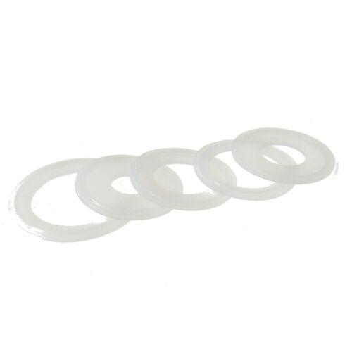 5 un 76mm sanitario TRI CLAMP Silicona Sellado de juntas