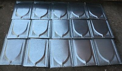 lot of 15 pieces Rustic Vintage 26 Gauge Metal Roof Shakes