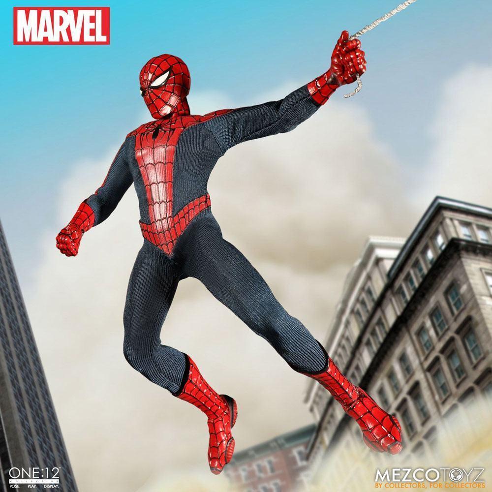 Mezco 1/12 Figur Marvel Spider-Man Spiderman 17 cm Actionfigur echte Kleidung