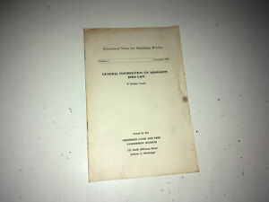 MISSISSIPPI BIRD LIFE Vintage Book 1961 MS Game & Fish Commission Ornithology