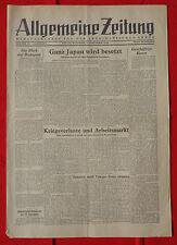 ALLGEMEINE ZEITUNG 5.9.1945: Ganz Japan wird besetzt
