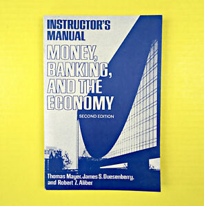 Instructor-s-Manual-Money-Banking-And-The-Economy-T-Mayer-Paperback-Book-Old