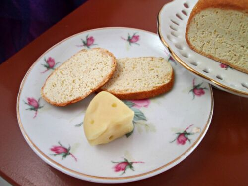 Doll food for Our Generation Dolls Miniature Handmade Swiss Cheese Wedges