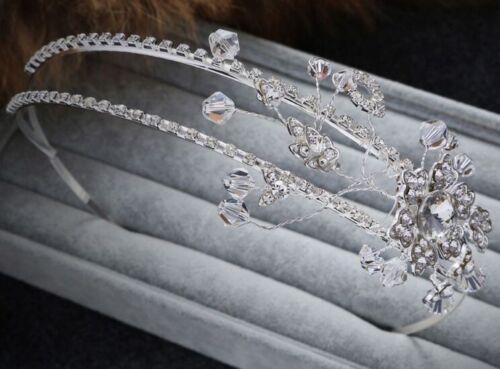 Rhinestone Alice band Diamante Wedding Headband Crystal Bridal Dress Accessories