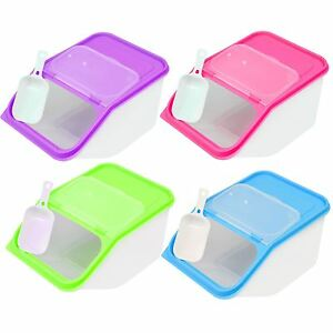 35L Large Dry Food Storage Container Scoop Plastic Cereal Pet Dog