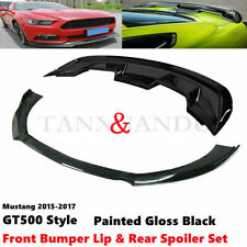 Fit For Ford Mustang Gt500 Style 15 17 Front Bumper Lip Amp Rear Spoiler Body Kit Fits Mustang