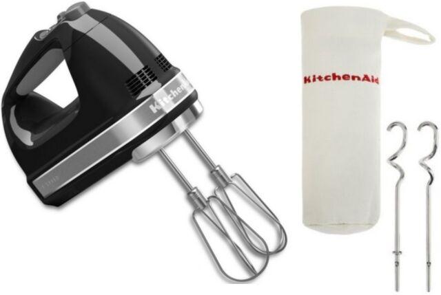 NEW KitchenAid Electronic Control KHM7211Q 7 Speed Digital Hand Mixer Onyx Black