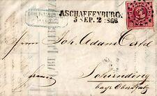 Bayern, Brief aus Hanau nach Schirnding, geschrieben in Hanau, Thurn u Taxis Geb