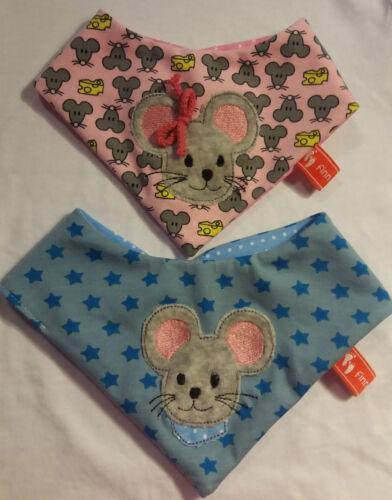 Baby-Halstuch Kinderhalstuch Sabberschutz Mäuse Baumwoll-Jersey f/&f Jungentuch